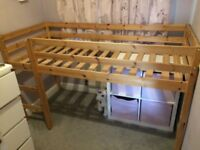 Shorty pine mid sleeper bed