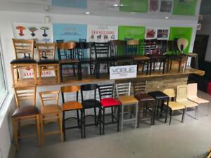 Chaises / Tables / Banquettes / Base de Table de Restaurant / Bar / Bistro / Cafe            Tel:(438)990-2355