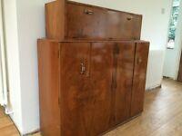 Drinks / Cocktail cabinet - Art Deco Walnut Bar