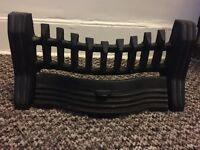 Black Fire guard grate front of fire place cast iron