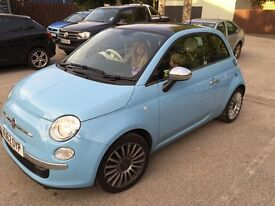 Fiat 500 Lounge, top spec,1 Yrs MOT, integrated steering wheel, blue tooth, MP3