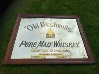 WANTED:ANTIQUE ADVERTISING MIRRORS .ENAMEL SIGNS ADVERTISING ITEMS.,OLD IRISH PUB MIRRORS