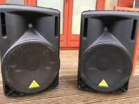 Behringer Eurolive B215D Active speakers and Stands