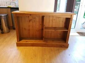Vintage Solid Pine Bookcase, Bookshelf, Book Case / Shelf