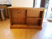 Vintage Solid Pine Bookcase, Bookshelf, Book Case / Shelf