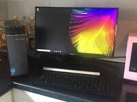 Desktop pc 24 inch flatscreen Samsung wireless tower