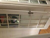 internal timber 15 pane glass door