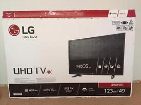 """G 49"""" 4K TV (model 49UH60). As new condition. £360 ono"""