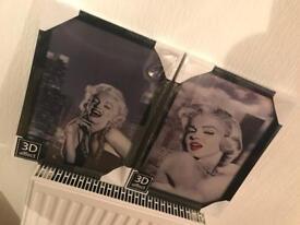 2x 3D Marilyn Munro Photographs