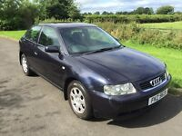 NOW SOLD 2001 Audi A3 1.6 3DR Sports Hatch 1yrs Mot very strong history 3mth warranty