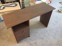 Wooden veneer desk - Collection from Chingford
