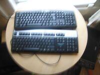 Computer keyboards x2 1xViglen & 1x HP