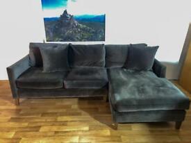 Delivery Available ~ Debenhams Velvet Corner Sofa