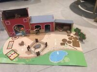 Children's wooden toy farm