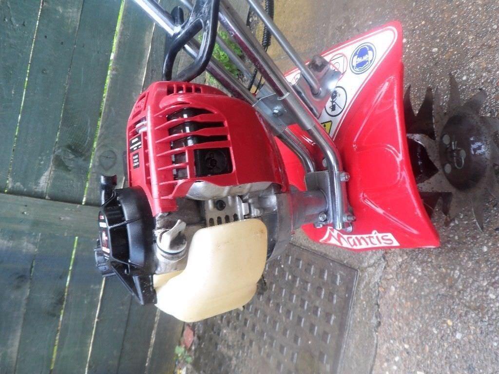 Mantis 4 Stroke Honda GX25 Rotavator, Tiller, Rotovator, Cultivator with  Manuals