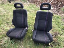 Vauxhall Astra mk3 GSi front seats from phase one (1992)
