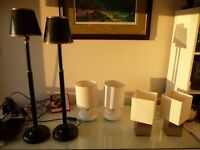 3 Pairs of Table Lamps