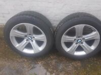"Genuine BMW 19"" alloys and continental compact tyres - literally spotless"