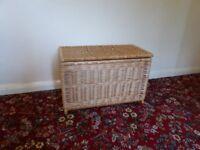 Wicker Linen Lined Washing Basket