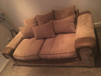 CSL / Sofology Three-Seater Sofa, Footstool and Cuddler Chair Set. RRP over £1800!!