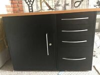 Office drawer unit and cabinet, very robust furniture - connected but can be seperated
