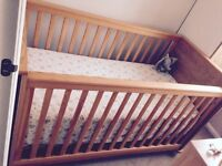 Baby cot/ Toddlers bed with matching wardrobe n Chester drawer