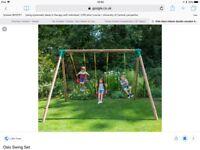 Little Tykes 'Milano' wooden swing frame.