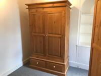 Large solid pine wardrobe, Free delivery