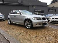 2010 BMW 118D M SPORT ..... SILVER ..... 143BHP ...... 5 DOOR ..... M-SPORT ....... P/X WELCOME