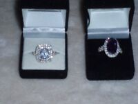 Sterling silver dress rings from littlewoods x 2