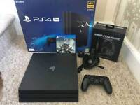 Ps4 pro with game