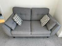 French Connection Zinc: 2 Seater Sofa Grey