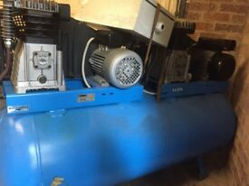 ABAC Twin Pump Single Phase 28 CFM compressor