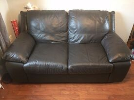 Italian leather 2 SEATER and ARMCHAIR
