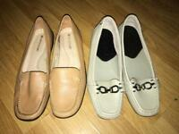 2 pairs of flats size 4