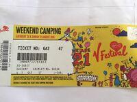 V Festival Weston Park weekend camping ticket
