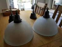 Pair of hanging ceiling lights. Heavy duty, ikea