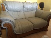 FREE Leather 2 seater sofa!