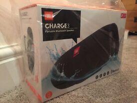 JBL Charge 3 Bluetooth Speaker -NEW