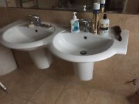 Double wall hung Vanity Basin