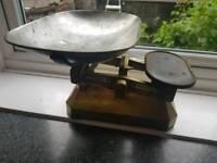 Vintage weighing scales