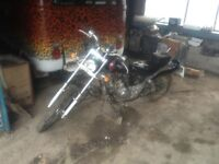 AJS Custom 50cc converted to 110cc Chopper motorbike swap for vw camper parts