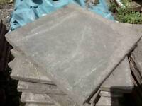 Reclaimed 2 x 2 paving slabs ideal for shed base or path