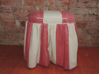 2 colour fabric stool (Delivery)