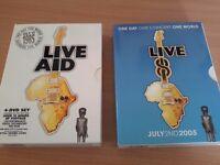LIVE AID AND LIVE 8 - 8 DISC BOX SETS