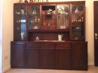 Mahogany Sideboard with Display Cabinet