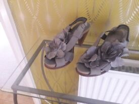 Statement grey high heeled shoes