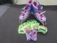 Girls Groovy Chick Roller skates Size 2-4