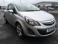 2012 Vauxhall CORSA 1.2 SXI , mot -March 2019 , only 21,000 miles , full service history,fiesta,clio