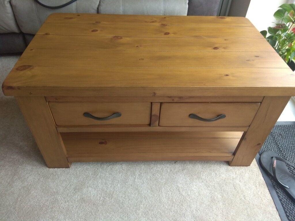 Argos Home Arizona 2 Drawer 1 Shelf Solid Pine Coffee Table In Rustington West Sussex Gumtree